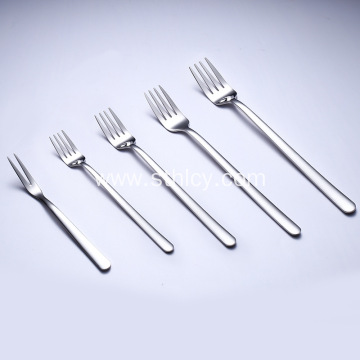 Thick Stainless Steel Long Handle Small Fork