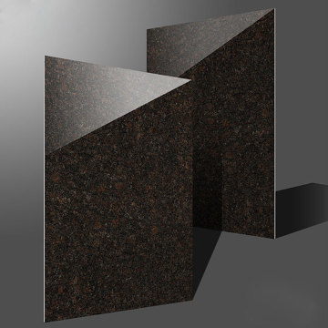 Granite exterior wall tile black