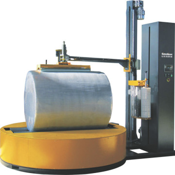 Paper roll film wrapping machine
