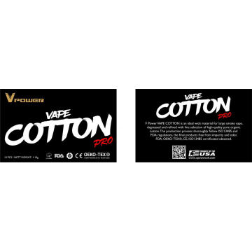 Wholesale E-cigarette Organic Cotton For E-cigarte
