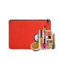 Saffiano Leather Lady Envelope Bag Zip Clutch Bags