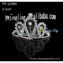 Rhinestone cheap wedding hairband crowns for sale