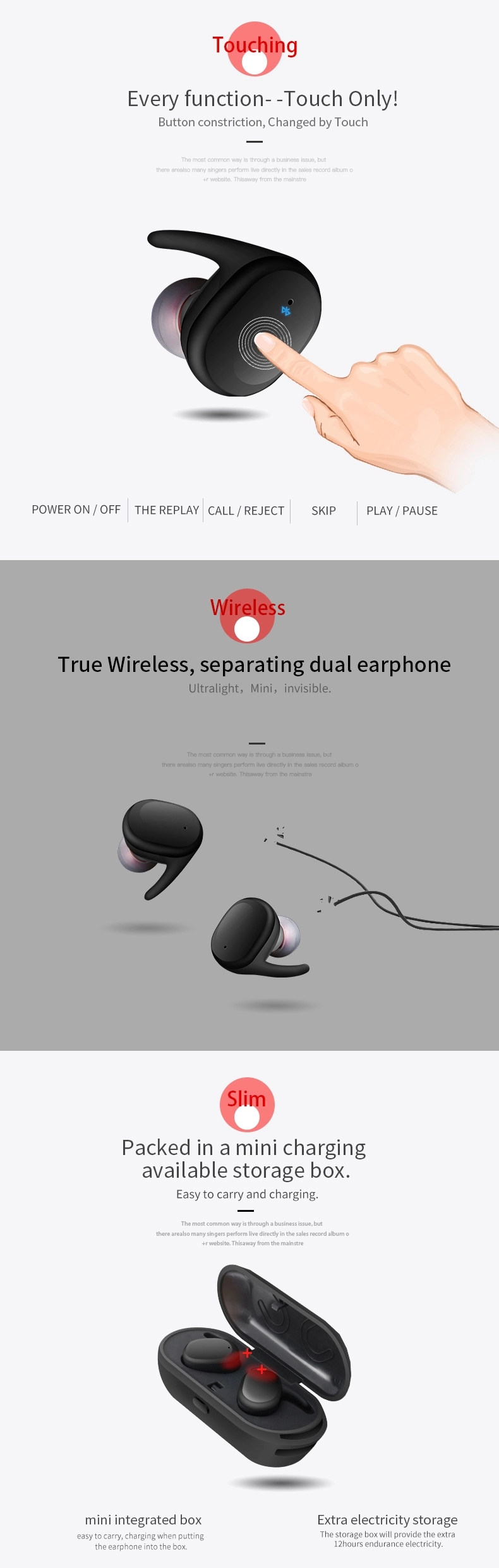 TWS Bluetooth Earbuds