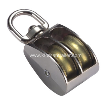 Swivel Eye Double Sheave Pulley Block