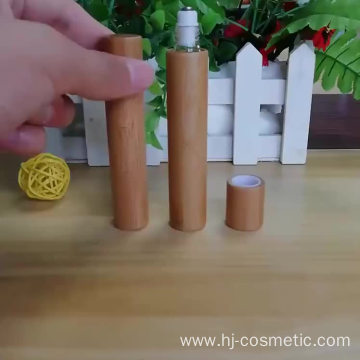 wholesale cosmetic high end essential oil packaging glass10ml bamboo roller bottle for perfume