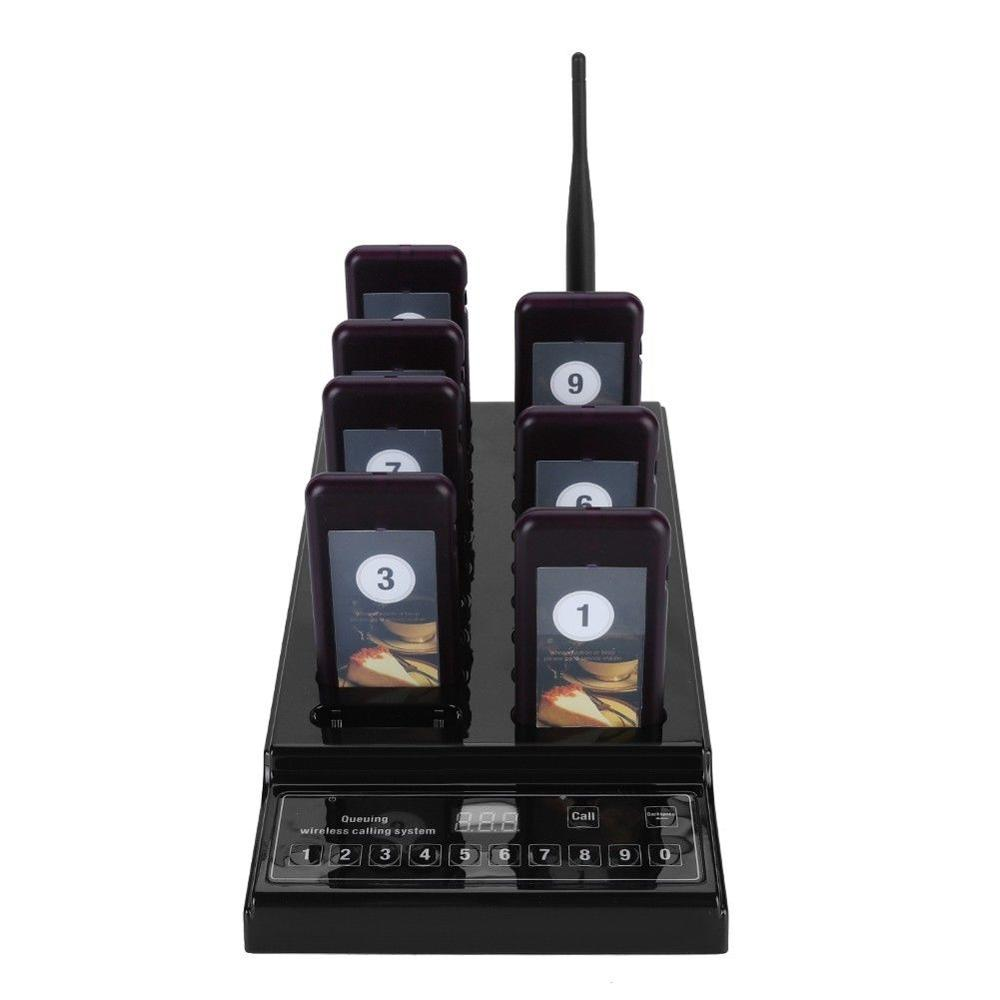 1-to-20 Restaurant Wireless Call Pager 999 Channel Calling Keypad Queuing Calling System Paging Calling System 100-240V