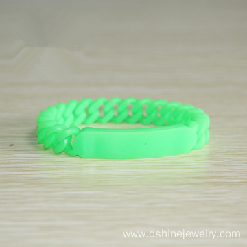Multicolors Teenager Soft Rubber Twisted Silicone Bracelets