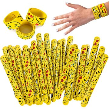 Custom Silicone Slap Bracelets Emoticon Slap Bracelets