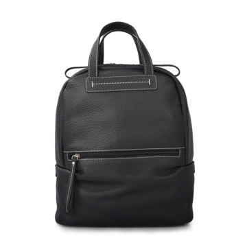 RALPH LAUREN Heritage Leather Backpack Black