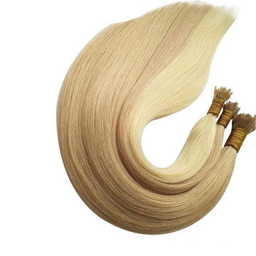 Blonde ultra tip hair extensions with high quality