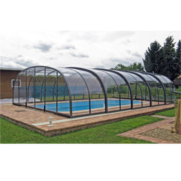 Four Season Glass Retractable Swimming Pool Roof Cover