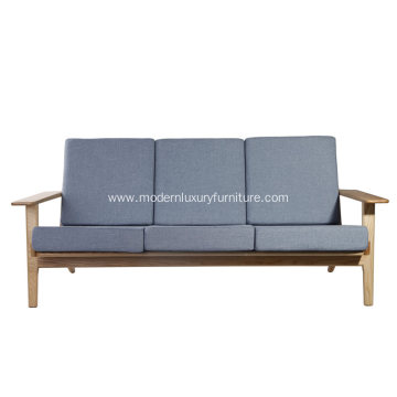 Hans Wegner Fabric Plank 3-seat Chair