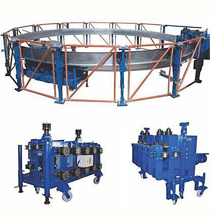 Steel spiral silo production line