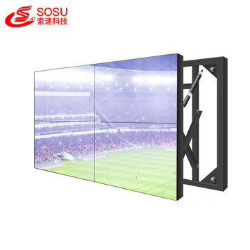huge big advertising led tv wall