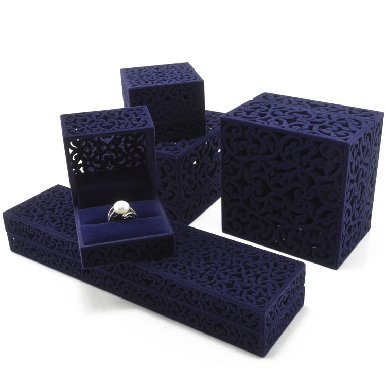 Blue hollow out high quality jewelry box designs