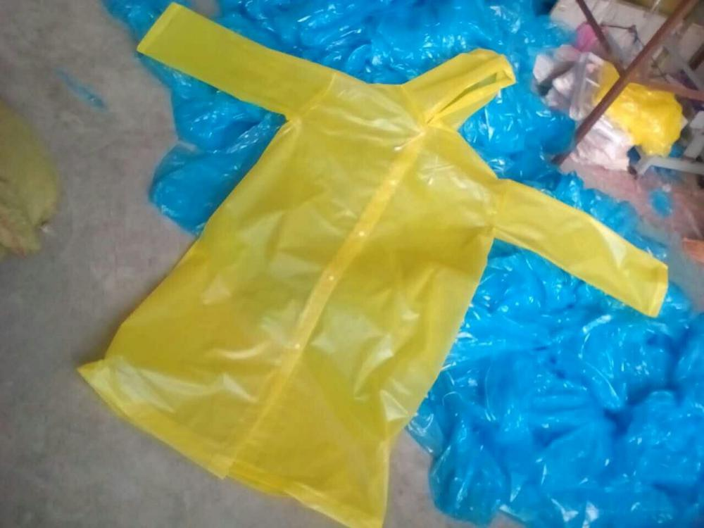yellow color adult size raincoat