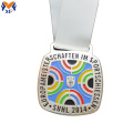 Custom made race award square medals