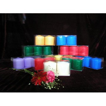 Unscented Smooth Surface Pillar Candle