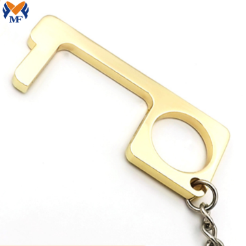 Custom Brass Door Touchless Opener Keychain