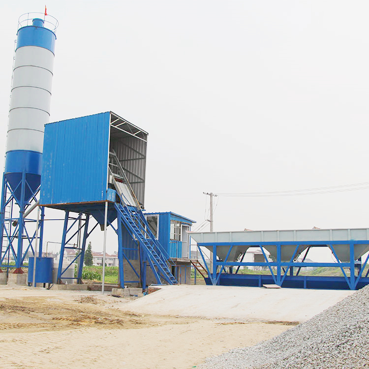 Low operating cost 25m3 modular concrete batching plant