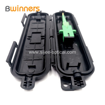 Fiber Optic Drop Cable Splicing Protective Box 1 Input 1 Output