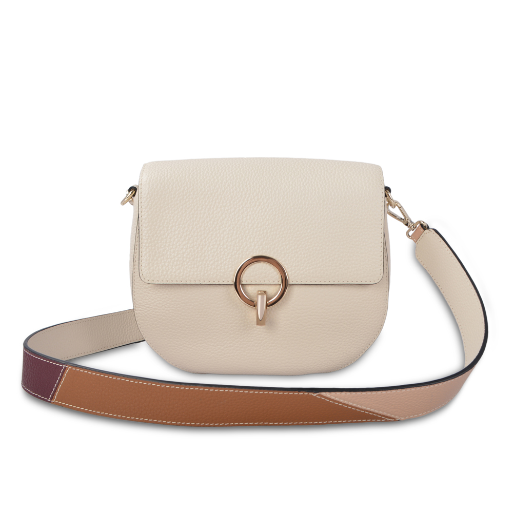 Function Pebble Leather Crossbody Bag