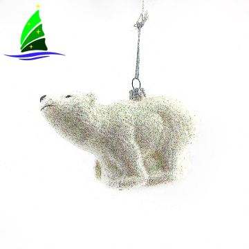 glass polar bear ornaments for Christmas tree decorations
