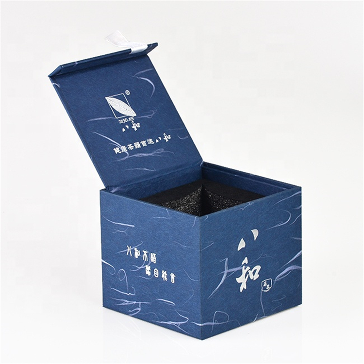 Blue New Design Cardboard Tea Cup Box Packaging
