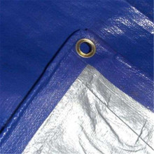 Blue Silver Color 180gsm PE Tarpaulin