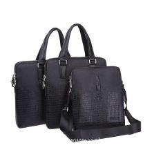 Customized fashion crocodile texture laptop bag