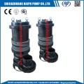Submersible slurry pump with stirrer