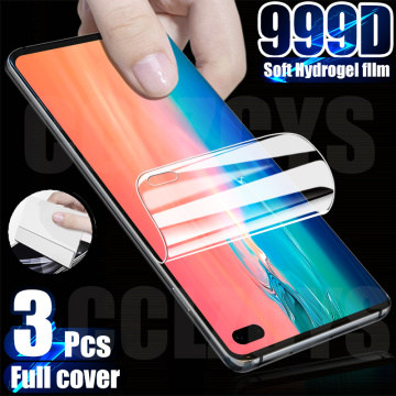 3Pcs Hydrogel Film Screen Protector For Samsung Galaxy S10 S20 S9 S8 Plus Note 10 9 A50 A51 A71 M21 M31 A40 A31 Screen Protector
