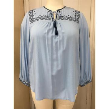 Women's Plus Size Embroideryed Top