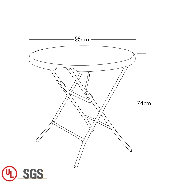 Custom Round Folding Table