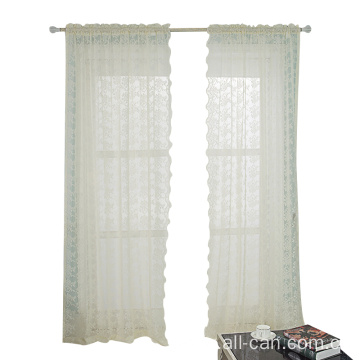 Beige Lace Jacquard Curtain