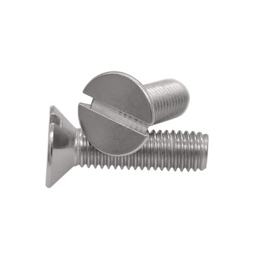 304 Stainless Steel DIN963 Slotted Countersunk Head Screws