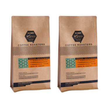 Flat Bottom Kraft Paper Coffee Bag