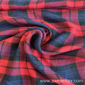 Twill Style Yarn Dyed 100% Rayon Blouses Fabric