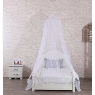 Ceiling luminous mosquito net in the bedroom