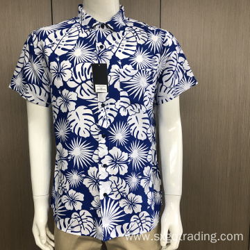 Men's short sleeve print shirt