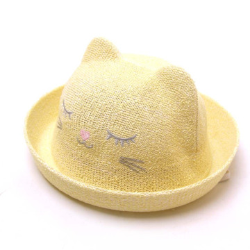 Kids summer beach hat bonnie straw hat custom
