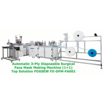 Automatic 3-Ply Disposable Face Mask Making Machine