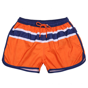 Peach Skin Stripe Quick Dry Swimming Shorts
