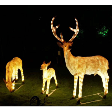 Outdoor FRP Garden Deer Lights
