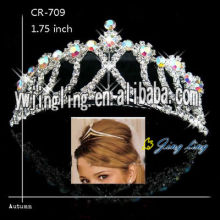 Silver Plated Small Crowns Wedding Crystal Tiaras