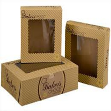 Custom kraft paper bakery cake boxes with window