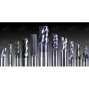 OPT Unequal helix-angle end mill