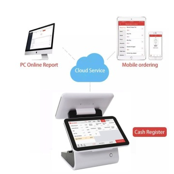 12.5 inch dual Screen pos computer billing machine