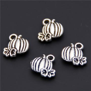 50pcs Silver Color Pumpkin Charms Pendant For Hallowmas Diy Necklaces & Pendants Jewelry Accessories A2405