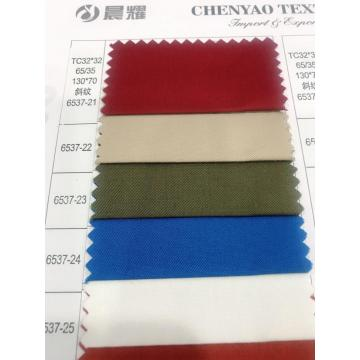 TC32*32 65/35 130*70 Twill Dyed Fabric